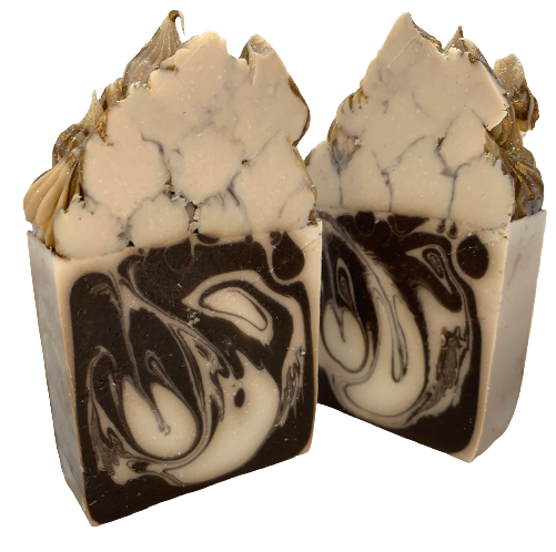 White Mocha Truffles Frosted Soap
