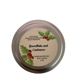 Snowflake and Cashmere Soy Wax Candle