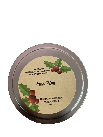 Egg Nog Soy Wax Candle